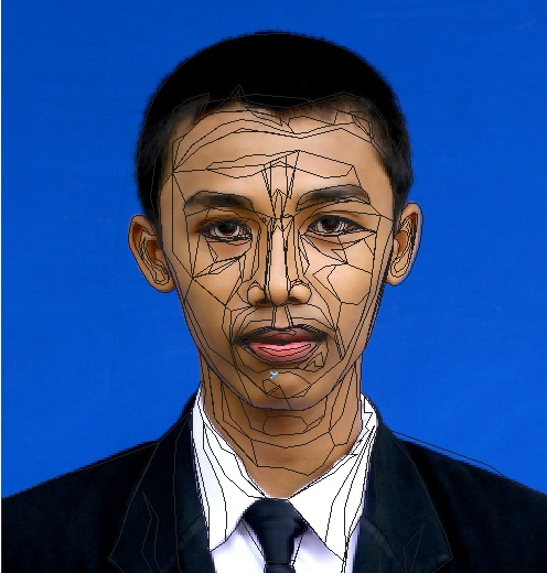 Line Art Wajah : Tutorial vektor wajah acipsangtu